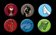 Dungeons and Dragons Villains 80s cartoon badge set