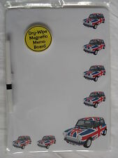 UNION JACK CLASSIC MINI CAR DRY WIPE MAGNETIC FRIDGE MEMO BOARD WITH PEN.NEW