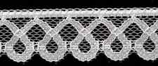 """12 yards Flat White Lace 1"""" Fabric Sewing Trim New! Embellishment Craft Supplies"""