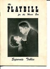 Eric Portman Geraldine Page Ann Shoemaker Separate Tables 1957 Playbill
