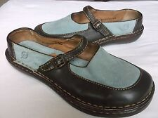 Born 7824 Women's Shoes Two Tone Black and Brown Leather Flats 6.5 / 37
