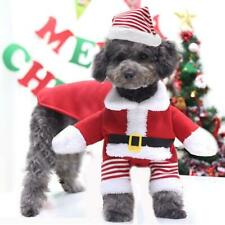 Pet Cat Dog Christmas Costume Santa Claus Cosplay Fancy Dress Clothes Outfits
