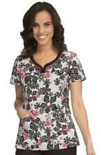 {XS} MC2 Med Couture Lexi Sport Neckline Floral Print Scrub Top (8441FSHP)