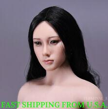 1/6 Asian Female Head Sculpt A Black Hair For TBLeague Phicen Hot Toys ❶USA❶
