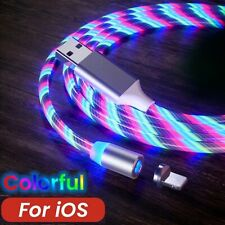 CÂBLE USB CHARGEUR LED LUMINEUX MAGNÉTIQUE POUR IPHONE & IPAD LONGUEUR 1 MÈTRE