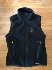 Patagonia Synchilla Vest Men's Small Zip Up Black Zip Pockets
