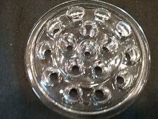 Vintage Floral Frog Clear Glass 16 Hole Flower Holder 5 Inch ~ Ships Free!