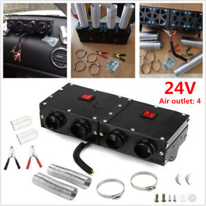 24V 4-Hole Iron Compact Truck Car SUV RV Heater Heating Defroster Demister Kit