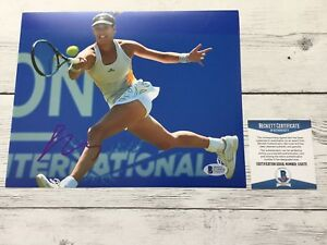 Garbine Muguruza Signed 8x10 Photo Beckett BAS COA c