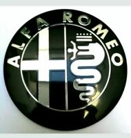 2x Alfa Romeo Classic Front + Back Emblem Badge 147 156 159 Brera Mito Giulietta