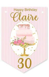 Birthday Cake Bunting,Personalised Birthday Party Banner,Garland