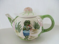 Collectible Frog Tea Pot by Lily Pad Lane, Crystal Clear