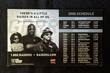 2008 Oakland Raiders Football Magnetic Schedule