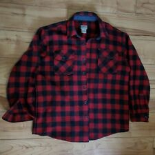 Vintage L.L. Bean Red Buffalo Checkered Wool Shirt