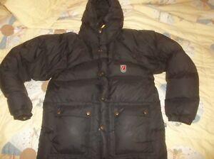 Fjallraven DOUBLE Goose Down Expedition Parka Puffer Jacket Coat Vintage Rare Sm