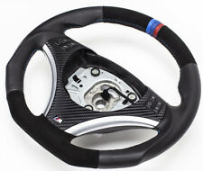Aplati Alcantara Volant en Cuir BMW M-POWER E82 E84 E87 E88 E90 E91 E92