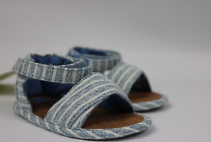 Toms Tiny Shiloh Sky Washed Striped Sandals