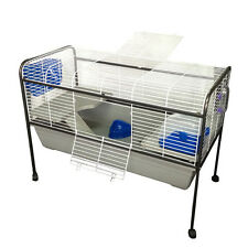 X-Large Metal Indoor Rabbit Guinea Pig Cage Hutch Stand Toilet 122x91x62cm