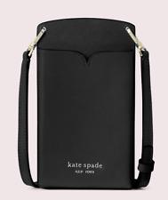 Kate Spade spencer slim Leather phone case card holder crossbody ~NWT~ Black