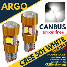 2 ERROR FREE CANBUS 501 27 SMD LED SIDE INDICATOR WHITE BULBS XENON T10 W5W CREE