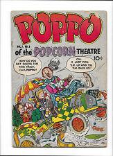 POPPO OF THE POPCORN THEATRE #8  [1955 VG-]  CLOWN COVER!