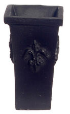 NERO impianto / UMBRELLA STAND / Vaso Quadrato, DOLL HOUSE miniatura, 1.12 TH scala
