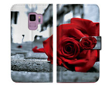 Blooming Rose Wallet Case Cover For Samsung Galaxy J8 (2018) - A011