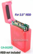 2.5 Inch HDD Protective Storage Box for IDE/SATA, Red