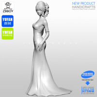 1/24 Unassembled Figure a Night Gift Goddess Resin scale 75mm model