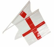 50 England St Georges Day Hand Waving Flags Decorations Support Football Cricket