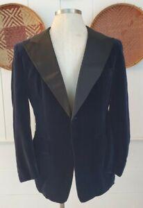 Vintage 50s First Nighter Grayish Blue Dinner Jacket 42R