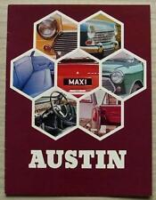 AUSTIN RANGE Sales Brochure 1970 #2666 MINI COOPER S/1275 GT Maxi 1300GT ++