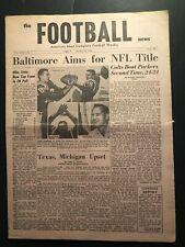1964 Football News BALTIMORE Colts vs GREEN BAY Johnny UNITAS Raymond BERRY Don