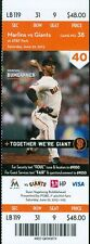 2013 Giants vs Marlins Ticket: Ed Lucas hit his first career home run