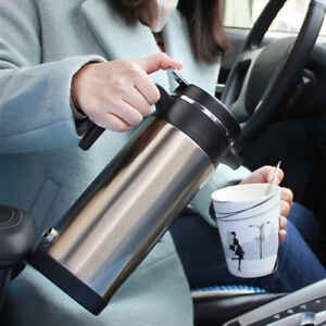 12V 1200ml Stainless Steel Travel Electric In Car Water Kettle Boiler Lighter P