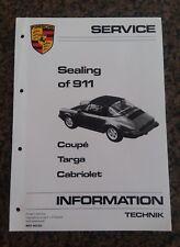 Porsche Sealing of 911 Coupe Targa Cab Service Training Center Manual 1986+