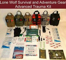 68 Item Custom Deluxe Advanced Trauma Kit in MOLLE Tactical Pouch