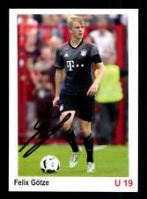 Felix Götze Autogrammkarte Bayern München U19 2016-17 Original Signiert