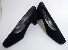 Stuart Weitzman Fabric Pumps Black Size 8 AA Womens (SL 125)