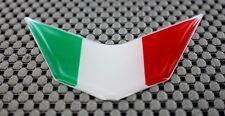 Italia Italy Flag Ducati Aprilia V Decal Sticker Domed Emblem Chrome Outline
