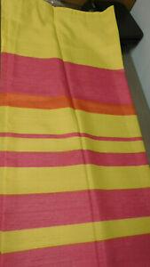 Vintage Orange & Yellow Stripes Mainstays Shower Curtain -Polester-Never Used