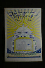 1927 Capitol Theatre Program Nyc *Buster Keaton - The General*