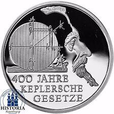 Deutschland 10 Euro Johannes Kepler 2009 Silber-Gedenk-Münze Spiegelglanz