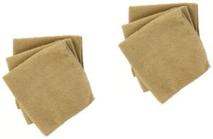 Tan Microfiber Washcloths Set of 8 Ultra Soft Luxurious Face Cloth 11inx11in