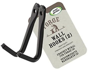 Forge Wall Hooks Heavy Duty for Hanging Baskets & Bird Feeders