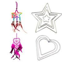 Dream Catcher Hot Welded Metal Dreamcatcher Ring Macrame Craft Hoop DIY Gifts