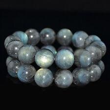 "14mm Labradorite Strong Blue Flash Rondelles Beads Bracelets 8"""