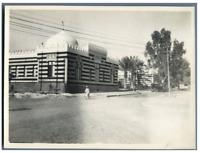Egypte, Ismaïlia (الإسماعيلية), Mosquée  Vintage silver print.  Tirage argenti