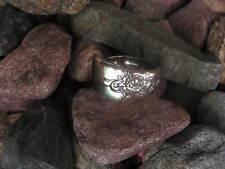 Vintage Floral Spoon Ring  R333 Size 12.75 Western Skies Silver