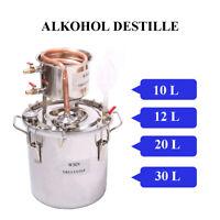 10-30L DIY Destillieranlage Schnapsbrennen Kupfer Destille Alkohol Öle Wasser